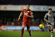 James Collins assists in Crawley's second goal during the EFL Sky Bet League 2 match between Crawley Town and Grimsby Town FC at the Checkatrade.com Stadium, Crawley, England on 26 November 2016. Photo by Jarrod Moore.