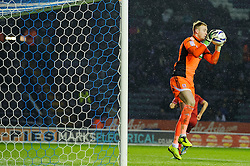 Middlesbrough Goalkeeper Jason Steele (ENG) makes a save during the first half of the match - Photo mandatory by-line: Rogan Thomson/JMP - Tel: Mobile: 07966 386802 18/01/2013 - SPORT - FOOTBALL - King Power Stadium - Leicester. Leicester City v Middlesbrough - npower Championship.