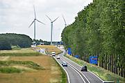 Nederland, Bemmel, 21-6-2018De A15 gaat hier bij knooppunt Ressen over in de N15. Vanaf dit punt wordt deze voor de regio Arnhem en Nijmegen belangrijke schakel in de verbinding naar Duitsland doorgetrokken naar de A12 bij Zevenaar. Na jaren discussie en uitstel, moet het 1 miljard kostende traject angelegd worden met een brug over het Pannerdensch Kanaal .Foto: Flip Franssen