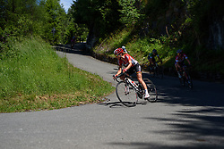 Claudia Lichtenberg (Lotto Soudal) leads the chase group at Giro Rosa 2016 - Stage 5. A 77.5 km road race from Grosio to Tirano, Italy on July 6th 2016.