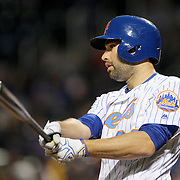 NEW YORK, NEW YORK - APRIL 26:  Neil Walker #20 of the New York Mets preparing to bat during the New York Mets Vs Cincinnati Reds MLB regular season game at Citi Field on April 26, 2016 in New York City. (Photo by Tim Clayton/Corbis via Getty Images)