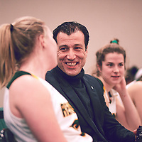 Women's Basketball Assistant Coach, Fatih Asker during the Women's Basketball Home Game on Fri Nov 30 at Centre for Kinesiology,Health and Sport. Credit: Arthur Ward/Arthur Images
