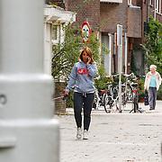 NLD/Amsterdam/20150828 - Nada van Nie laat haar hond uit