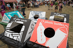 Recycling bins at the WOMAD (World of Music; Arts and Dance) Festival in reading; 2005,