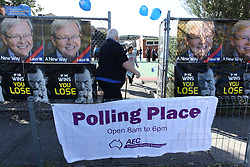 © Licensed to London News Pictures. 7/9/2013. Australian voters  enter the polling place in the electorate of Bruce during the Australian Federal Election. Photo credit : Asanka Brendon Ratnayake/LNP