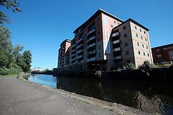 UK ENGLAND LEICESTER 30JUN15 - Urban housing development near the river Soar at Leicester city.<br /> <br /> jre/Photo by Jiri Rezac / WWF UK<br /> <br /> © Jiri Rezac 2015