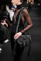 Alexandra Hochguertel (The Society) walks the runway wearing Altuzarra Fall 2015 during Mercedes-Benz Fashion Week in New York on February 14, 2015