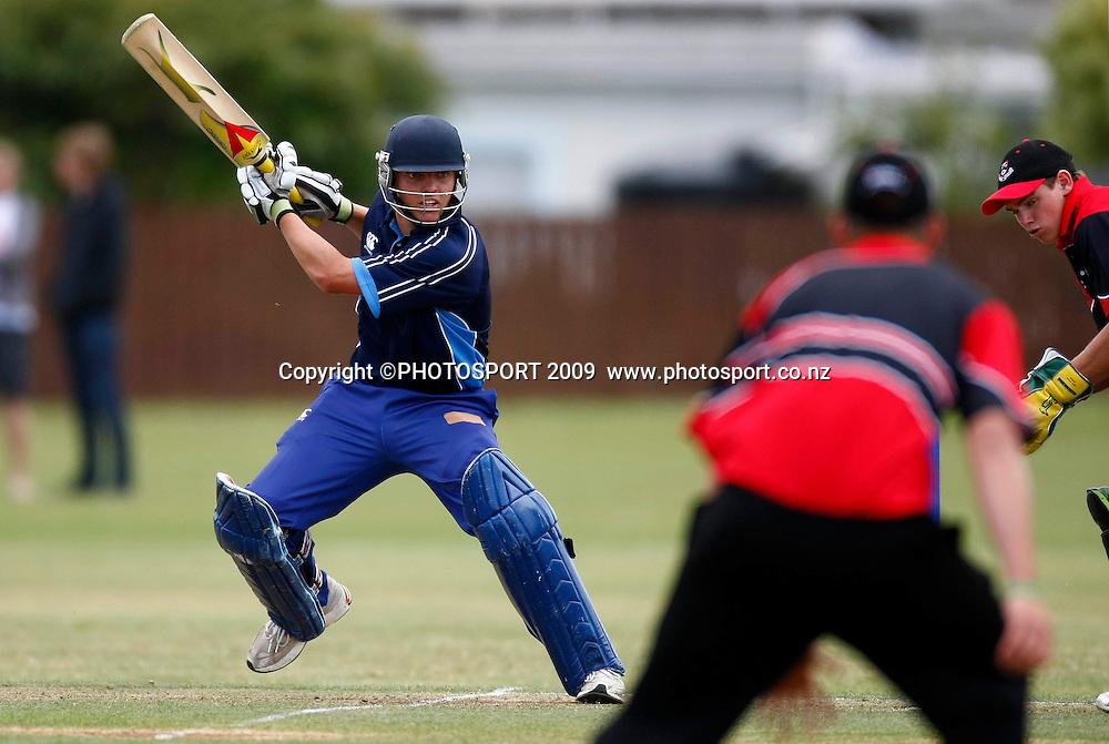 Auckland batsman Michael Barry. U19 National Final, Canterbury v Auckland, Te Atatu Park, Auckland. Monday 21 December 2009. Photo: Simon Watts/PHOTOSPORT