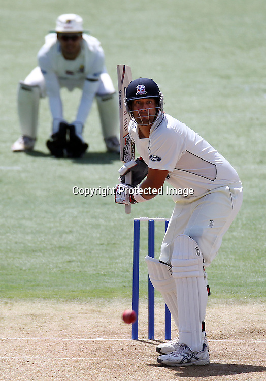 Daryl Tuffey. Day one of the Plunket Shield cricket - Auckland Aces v Northern Knights at Colin Maiden Park, Auckland, New Zealand on Thursday, 24 February 2011. Photo: Ella Brockelsby / photosport.co.nz