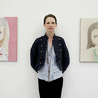 Dublin based artist, Gemma Browne who is currently showing her work 'Twinkle' in the Burren College of Art in Ballyvaughan as part of the 2nd annual Burren Exhibition.<br /> <br /> Photograph by Yvonne Vaughan.