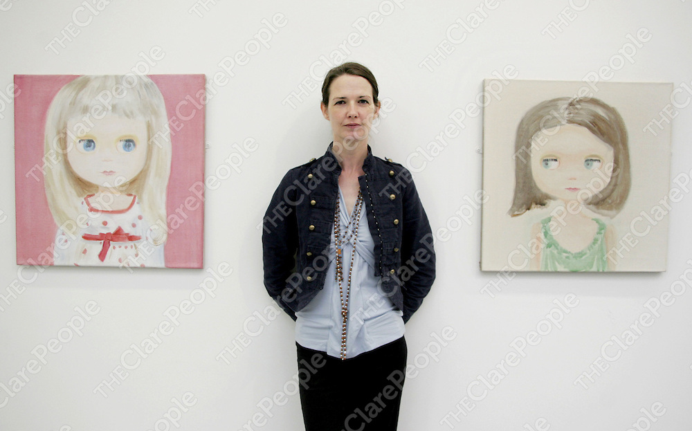 Dublin based artist, Gemma Browne who is currently showing her work 'Twinkle' in the Burren College of Art in Ballyvaughan as part of the 2nd annual Burren Exhibition.<br />