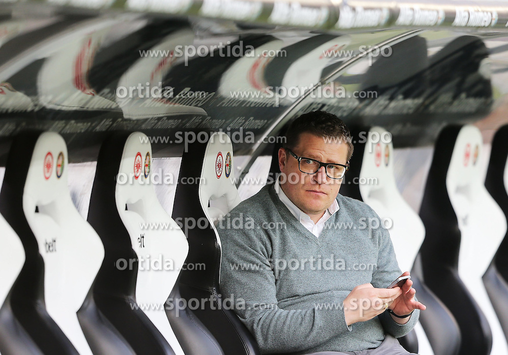 17.04.2015, Commerzbank Arena, Frankfurt, GER, 1. FBL, Eintracht Frankfurt vs Borussia Moenchengladbach, 29. Runde, im Bild vl. Manager Max Eberl (Borussia Moenchengladbach) Portrait // during the German Bundesliga 29th round match between Eintracht Frankfurt vs Borussia Moenchengladbach at the Commerzbank Arena in Frankfurt, Germany on 2015/04/17. EXPA Pictures &copy; 2015, PhotoCredit: EXPA/ Eibner-Pressefoto/ Voelker<br /> <br /> *****ATTENTION - OUT of GER*****