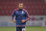 Middlesbrough midfielder Emilio Nsue (24)  during the Sky Bet Championship match between Rotherham United and Middlesbrough at the New York Stadium, Rotherham, England on 8 March 2016. Photo by Simon Davies.
