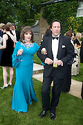 JOAN COLLINS AND  PERCY GIBSON, Raisa Gorbachev Foundation Party, at the Stud House, Hampton Court Palace on June 7, 2008 in Richmond upon Thames, London,Event hosted by Geordie Greig and is in aid of the Raisa Gorbachev Foundation - an international fund fighting child cancer.  7 June 2008.  *** Local Caption *** -DO NOT ARCHIVE-© Copyright Photograph by Dafydd Jones. 248 Clapham Rd. London SW9 0PZ. Tel 0207 820 0771. www.dafjones.com.