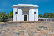 Santa Marta, Colombia-- April 22, 2018. Photo of a Museum dedicated to Simon Bolivar at the place where he died. Editorial use only.