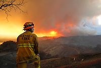 Santa Barbara, California, US. 2009<br /> <br /> The Jesusita fire began on May 5th, 2009, and destroyed close to 9,000 acres in the hills of Montecito and Santa Barbara. In 5 days, 80 homes were destroyed and 15 were damaged from the wildfire.