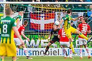 DEN HAAG - 21-04-2016, ADO Den Haag - AZ, Kyocera Stadion, ADO Den Haag speler Tommie Beugelsdijk (l) scoort hier de 1-1, doelpunt, AZ keeper Sergio Rochet.