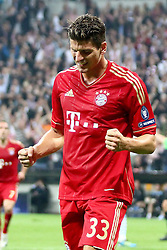 27.09.2011, Allianz Arena, Muenchen, GER, UEFA CL, FC Bayern Muenchen vs Manchester City, im Bild Jubel nach dem 1-0 durch Mario Gomez (Bayern #33)   // during the CL match  FC Bayern Muenchen (GER)  vs Manchester City (ENG) Gruppe A, on 2011/09/27, Allianz Arena, Munich, Germany, EXPA Pictures © 2011, PhotoCredit: EXPA/ nph/  Straubmeier       ****** out of GER / CRO  / BEL ******
