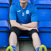 St Johnstone defender Tam Scobbie pictured at McDiarmid Park this morning on the comeback trail after having srugery on his knee...03.11.14<br /> Picture by Graeme Hart.<br /> Copyright Perthshire Picture Agency<br /> Tel: 01738 623350  Mobile: 07990 594431