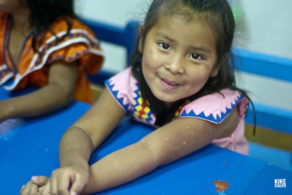 Indigenous Ngo?be Bugle? girl at Casa Esperanza . Panama.