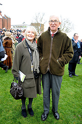 LUCIA VAN DER POST and her husband NEIL CRICHTON-MILLER at the 2008 Hennessy Gold Cup held at Newbury racecourse, Berkshire on 29th November 2008.<br /> <br /> NON EXCLUSIVE - WORLD RIGHTS