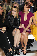 PARIS, FRANCE - JANUARY 25:  Audrey Dana and Berenice Bejo attend the Elie Saab Spring/Summer 2012 Haute-Couture Show as part of Paris Fashion Week at Grand Palais on January 25, 2012 in Paris, France.  (Photo by Tony Barson/Getty Images)