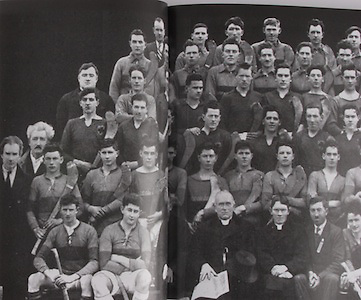 Tipperary All-Ireland Hurling Champions 1931. Back Row: P Cahill, J Harney, T Treacy, J McKenna, T Leahy, J Stapleton. Fifth Row: J Lanigan, M F Cronin, J Heaney, P Purcell, J J Callinan (capt seniors), M Ryan, J Maher, J O'Loughlin, D Looby. Fourth Row: Rev M J Lee, T Butler, J Harrington, T Rainey, P Harty (capt juniors), J Ryan, T Hayes, T Power, M Kennedy, M Ryan, J Dwyer, J Connolly. Third Row: W O'Gorman, E Wade, T Harty, T Connolly,  M Browne, M McGann, W Ryan, J Fletcher, M Ryan, P Furlong. Second Row: F McGrath (Nenagh), P McGrath (Sec munster Council), P Ryan, W Kennedy, J Dunne, J Heaney, P Ryan, E Maher, T Harney, J Semple, J Lanigan, J Close, W O'Gorman, M Maher (Tubberadora). Front row: P Flannagan, J Russell (capt minors), Rev J J Meagher, His Grace Archbishop Harty, Rev P Fogarty, J Leahy, J Caffey, J Quinlan, T Semple, W Boland, W O'Neill, J Gleeson.