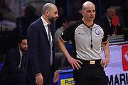 Maurizio Buscaglia, arbitro<br /> Vanoli Cremona - Dolomiti Energia Aquila BasketTrento<br /> Lega Basket Serie A 2016/2017<br /> Cremona, 29/01/2017<br /> Foto Ciamillo-Castoria