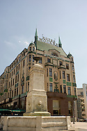 The art deco exterior of the Hotel Moskva in Belgrade, Serbia