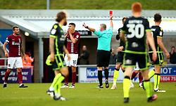 Alex Revell of Northampton Town is shown a red card and sent off - Mandatory by-line: Robbie Stephenson/JMP - 07/10/2017 - FOOTBALL - Sixfields Stadium - Northampton, England - Northampton Town v Bristol Rovers - Sky Bet League One