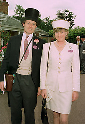 The HON.PETER & MRS STANLEY, he is the brother of the Earl of Derby, at Royal Ascot on 17th June 1997.LZI 4