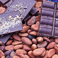 Cacao beans and ChocoSol chocolate