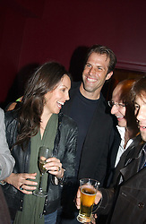 Tenns player GREG RUSEDSKI and his wife LUCY at a party to celebrate the publication of Paul McKenna's new book 'I Can Make You Thin' held at the Soho Hotel, 4 Richmond Mews, London W1 on 8th March 2005.<br />