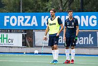 UTRECHT - Bjorn Kellerman en Sander de Wijn (r) van Kampong    tijdens  de training van Kampong  voor het nieuwe hockey hoofdklasse competitie. .COPYRIGHT KOEN SUYK
