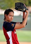 Cat Osterman, USA Softball, for Wilson Sporting Goods