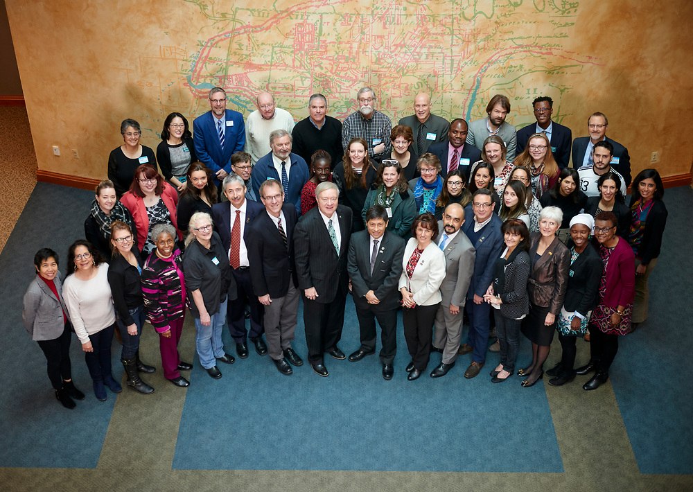 A group photo of all those who attended the welcome reception.