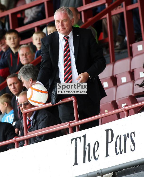 Dunfermline Athletic Football Club v Hearts of Midlothian Football Club - Pre Season Friendly .Chairman John Yorkston throws the ball back to the pitch..At East End Park, Dunfermline.21/07/2012..Craig Brown   StockPix.eu