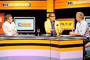Najaarspresentatie 2012/2013 RTL Nederland in studio 32, Hilversum.<br /> <br /> Op de foto:  Winston Gerschtanowitz , Albert Verlinden en Erland Galjaard