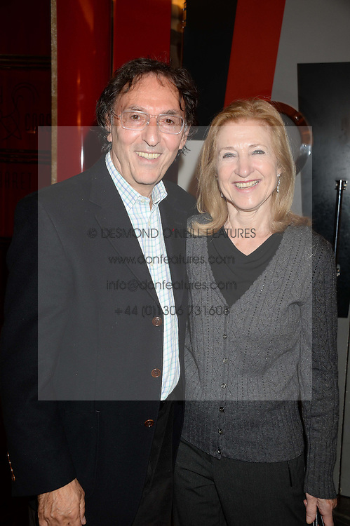 Lyricist DON BLACK and his wife SHIRLEY at a private performance by Frances Ruffelle entitled 'Paris Original' at The Crazy Coqs, Brasserie Zedel, 20 Sherwood Street, London on 8th October 2013.
