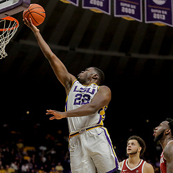 Jan 8, 2019; Baton Rouge, LA, USA; LSU Tigers forward Darius Days (22) shoots against the Alabama Crimson Tide during the first half at the Maravich Assembly Center. Mandatory Credit: Derick E. Hingle-USA TODAY Sports