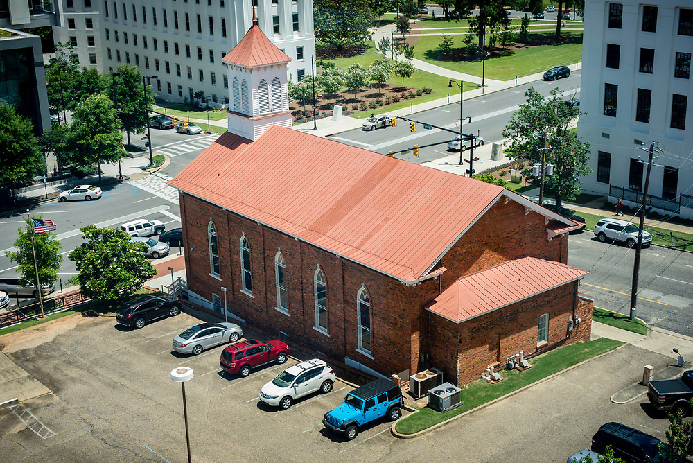 MONTGOMERY, AL -- 5/25/17 -- The Dexter Avenue King Memorial Baptist Church, where Dr. Martin Luther King, Jr. launched the Montgomery Bus Boycott, is located around the corner from SPLC headquarters and is visible from the office windows. Civil Rights attorney Morris Dees co-founded the Southern Poverty Law Center in 1971. The group has taken on the Ku Klux Klan and fought for against hate for decades, but is now facing criticism that it has labeled some groups without just cause..…by André Chung #_AC17694