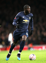 Manchester United's Romelu Lukaku during the FA Cup, Fourth Round match at the Emirates Stadium, London.