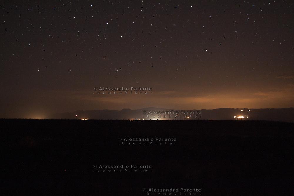 Cielo notturno.<br /> Night landscape.