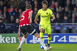 November 28, 2018 - Eindhoven, Netherlands - Denis Suarez of Barcelona and Daniel Schwaab of PSV during the UEFA Champions League Group B match between PSV Eindhoven and FC Barcelona at Philips Stadium in Eindhoven, Netherlands on November 28, 2018  (Credit Image: © Andrew Surma/NurPhoto via ZUMA Press)