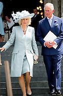 10-6-2016 LONDON ENGLAND Queen Elizabeth, Prince Philip the Duke of Edinburgh, Charles The Prince of Wales and the Camilla Duchess of Cornwall, William and Kate The Duke and Duchess of Cambridge, Prince Harry, Princess Anne Princess Royal and Timothy Lauwrence, Prince Andrew the Duke of York, Prince Edward and Princess Sophie The Earl and Countess of Wessex,  Princess Beatrice and Princess Eugenie attend the service of thanksgiving during the 90th birthday celebrations of Queen Elizabeth at St Paul&rsquo;s cathedral in London, United Kingdom, 10 June 2016.  COPYRIGHT ROBIN UTRECHT <br />