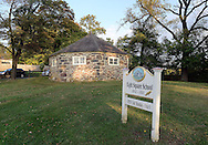 TOWNBY18P<br /> The octagonal school house is seen Thursday October 8, 2015 in Wrightstown Pennsylvania. Wrightstown is a Bucks County community that is not as much of a destination as the towns around it. (William Thomas Cain/For The Inquirer)