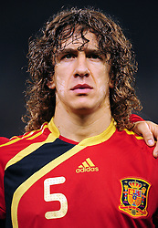 11.03.2010, Madrid, Spanien, ESP, Nationalmannschaft Spanien, Portraits im Bild Carles Puyol, Nationalspieler Spanien, Bild aufgenommen am 20.06.2009, EXPA Pictures © 2010, PhotoCredit: EXPA/ Alterphotos/ Gerhard Steenkamp / for Slovenia SPORTIDA PHOTO AGENCY.
