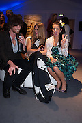 JACKSON SCOTT; GEMMA GREGORY; BIP LING, The Vogue Festival 2012 in association with Vertu- cocktail party. Royal Geographical Society. Kensington Gore. London. SW7. 20 April 2012.