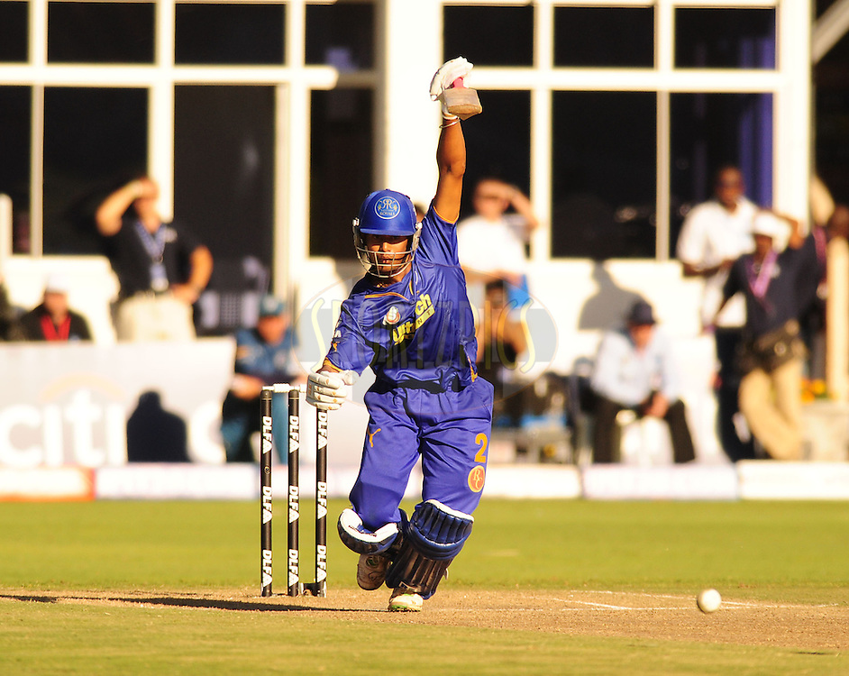 PORT ELIZABETH, SOUTH AFRICA - 2 May 2009.  Raut bats during the  IPL Season 2 match between the Deccan chargers vs Rajasthan Royals held at St Georges Park in Port Elizabeth , South Africa.