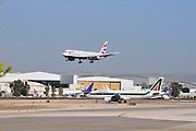 Israel, Ben-Gurion international Airport British Airways Passenger Jet landing